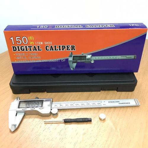 Foto Produk Vernier Caliper Sketmat Jangka Sorong Digital Sigmat Stainless 150 mm dari RWshopss