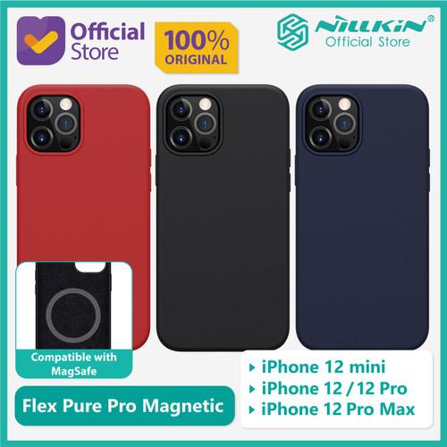 Foto Produk Case iPhone 12/Pro/mini/Pro Max Nillkin Flex Pure Pro Magnetic Magsafe - Red, 12 atau 12 Pro dari Nillkin Official