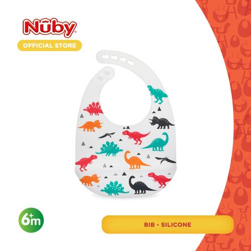 Foto Produk Silicone Bib - White (Dino) dari Nuby Official Store