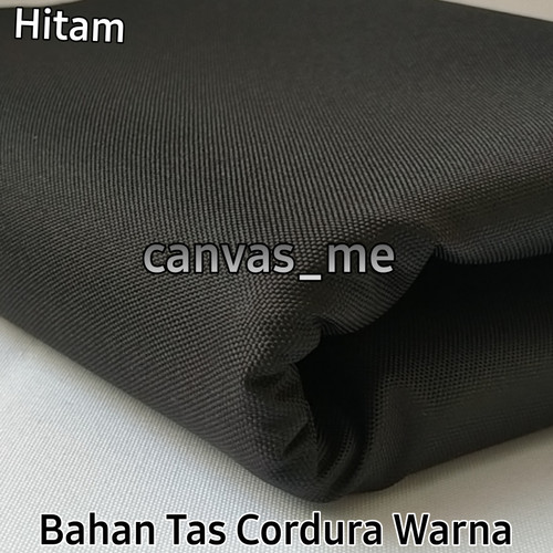 Foto Produk Kain Cordura Warna (Waterproof), Pjg 0,5m x Lbr 1,5m - Hitam dari canvas_me