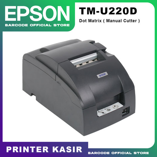 Foto Produk PRINTER DOT MATRIX EPSON TMU220 D - TM 220 D - 220D ( MANUAL CUTTER ) dari Barcode Official Store