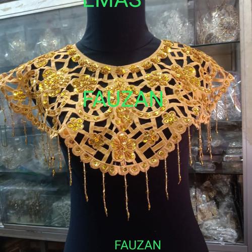 Foto Produk Aksesoris dada leher teratai payet baju dan tarian - Gold dari FAUZAN GHIFFARY SHOP