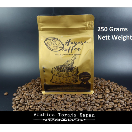 Foto Produk Kopi Toraja Sapan Celebes Arabika 250gr - Biji dari Hayasa Coffee
