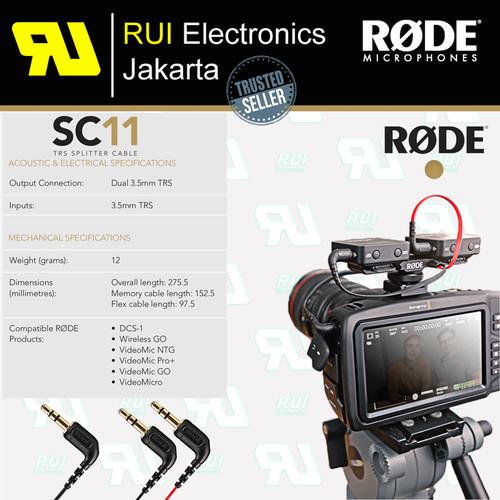 Foto Produk RODE SC11 TRS Splitter Cable dari RUI Electronics Jakarta