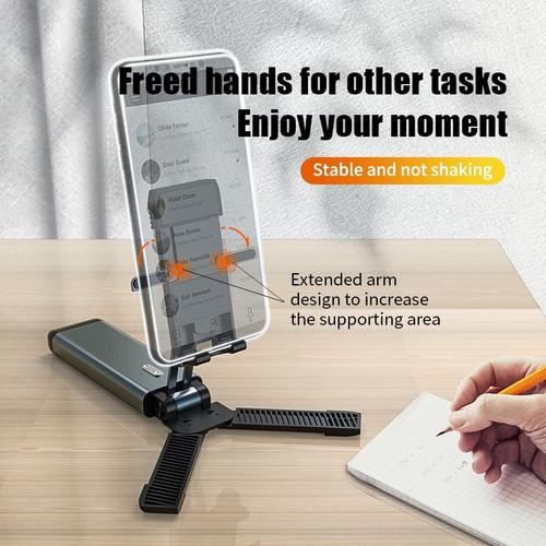 Foto Produk F6 Fully Foldable Cell Phone Holder Tablet Stand desktop lipat - Hitam dari mix acc888