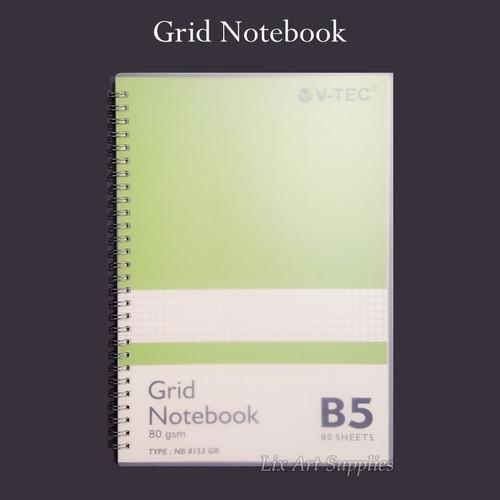 Foto Produk V-TEC Grid Notebook 80 gsm - 80 lembar - B5 dari Lix Art Supplies