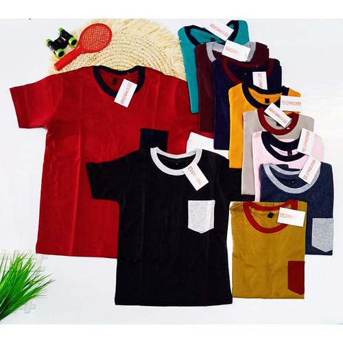 Foto Produk Baju Kaos Pocket Anak Baby 1-3thn Baju Anak Murah Grosir dari Calix Solution