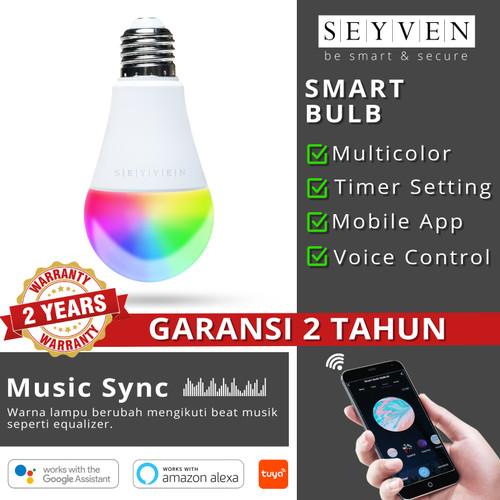 Foto Produk SEYVEN SMART LED BULB WIFI RGB SMART HOME BOHLAM PINTAR TUYA dari SEYVEN