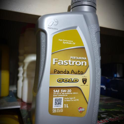 Foto Produk OLI PERTAMINA FASTRON GOLD 5w 30, Synthetic High Performance, 1 LTR. dari PANDA Auto