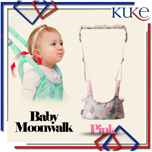 Foto Produk Baby Moonwalk / Walking Assistant Belt / Alat Bantu Belajar Jalan Bayi - Merah Muda dari KUKE