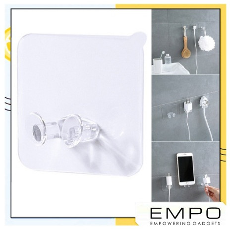 Foto Produk Gantungan Kabel Dinding Transparan | Penyangga Kabel Colokan dari EMPO