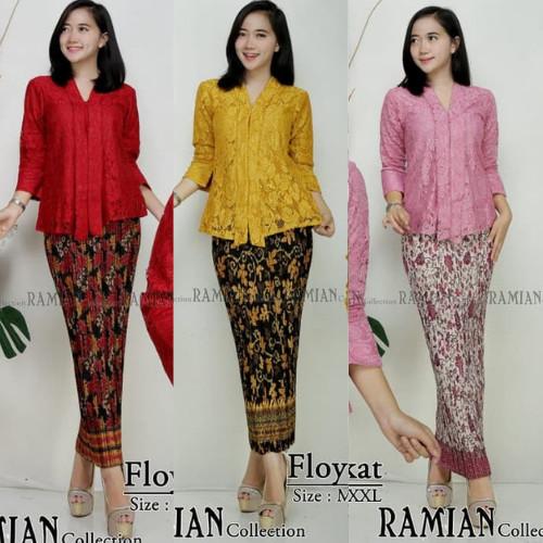 Foto Produk Stelan Kebaya Brukat Modern Floy Lima Pilihan Warnanya dari Aneka Butik Fashion