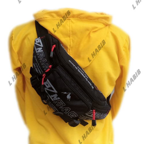 Foto Produk tas waistbag waist bag selempang pria pzn - Hitam dari L Habib