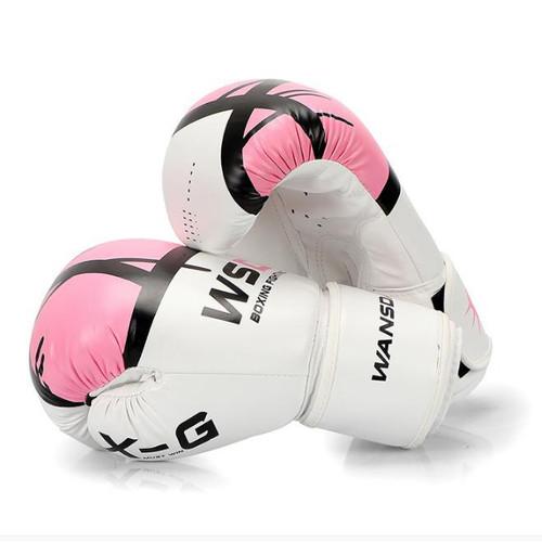 Foto Produk Boxing Gloves / Sarung Tinju WANSDA / WSD - White Pink dari KRB Pro