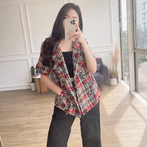 Foto Produk Ji Hye Tweed Blazer (multicolor) dari LEIV Official