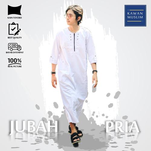 Foto Produk Jubah Gamis Pria Kawan Muslim Bahan Toyobo - Abu-abu, L dari Kawanmuslim Official