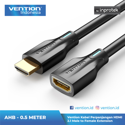 Foto Produk Vention Kabel Extension HDMI v2.1 Male to Female 4K 8K HDR - AHB 0.5 Meter dari Vention Indonesia