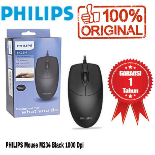Foto Produk Philips Wired Mouse M234 / SPK7234 Black Original & Bergaransi dari GRACE SHOP27