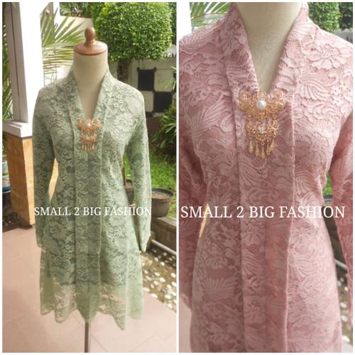 Foto Produk kebaya brokat brukat muslim jumbo tunik krem moca marun 3L 4L 5L dari Small 2 Big Fashion