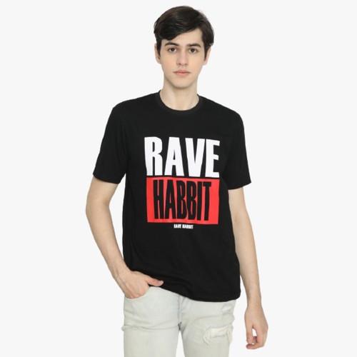 Foto Produk Rave Habbit Zayyan Kaos Pria - Black - S dari Rave Habbit Official