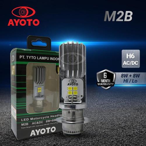 Foto Produk Lampu LED Motor AYOTO M2B H6 AC-DC 8W/8W Bebek Matic Beat Mio Vario dari supplier led