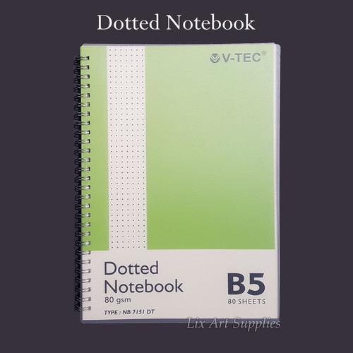 Foto Produk V-TEC Dotted Notebook 80 gsm - 80 lembar - B5 dari Lix Art Supplies