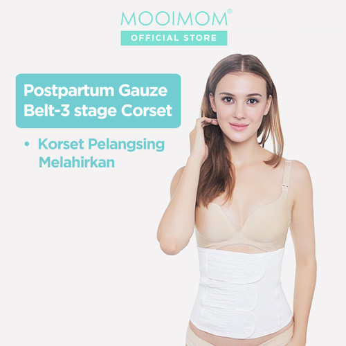 Foto Produk MOOIMOM Postpartum Belt 3 Stage Korset Pelangsing Pasca Melahirkan - Putih, M dari MOOIMOM Official