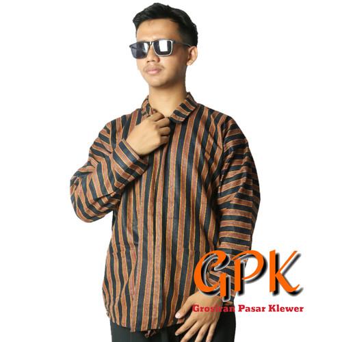 Foto Produk Baju Lurik / Surjan / Jawa / Wayang 02 - Size XL dari Grosir Pasar Klewer Solo