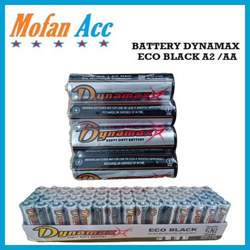 Foto Produk Baterai AA A2 Alkaline Dynamax Abu Eco Black 1.5v Baterai Kualitas SNI dari mofan accesories