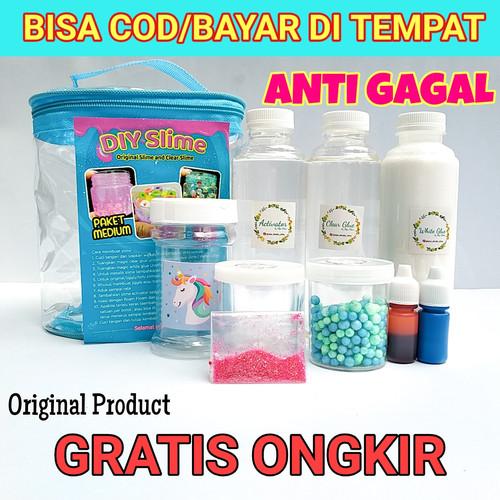 Foto Produk Bahan Slime ANTI GAGAL/Slime Kit Medium/Bahan Slime/DIY Slime dari www-bajualya-com