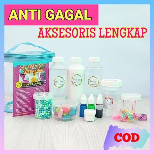 Foto Produk Slime Kit ISI BANYAK/LENGKAP/ANTI GAGAL/ Slime Kit Large/Bahan Slime dari www-bajualya-com