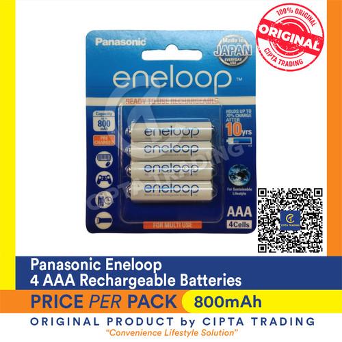 Foto Produk Rechargeable Batteries - Panasonic Eneloop - Eneloop AAA (4 Pieces) dari Cipta Trading