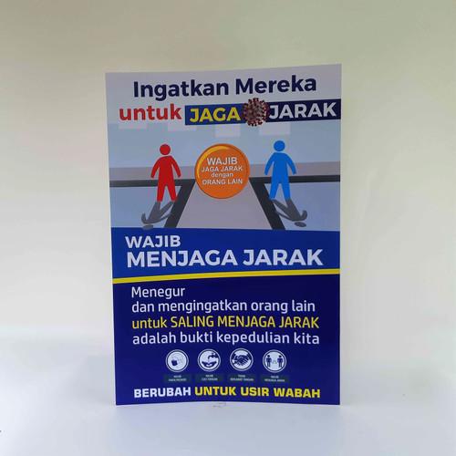 Foto Produk Poster Ingatkan untuk Menjaga Jarak dari Syafana