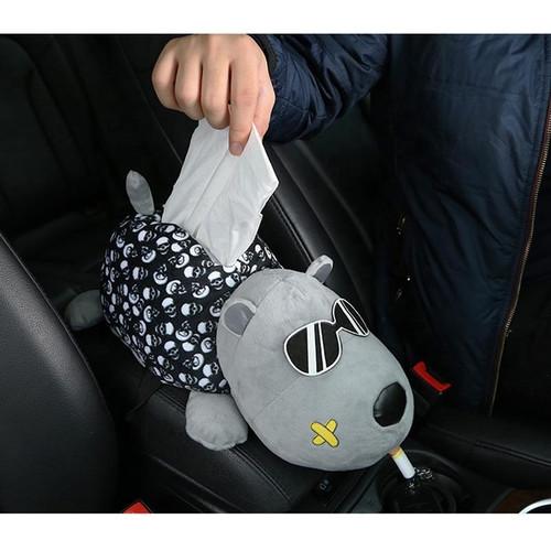 Foto Produk Tempat Kotak Tisu Mobil/Boneka Snoopy Gantungan Gentleman Car Tissue - Smoking dari Gentleman Car