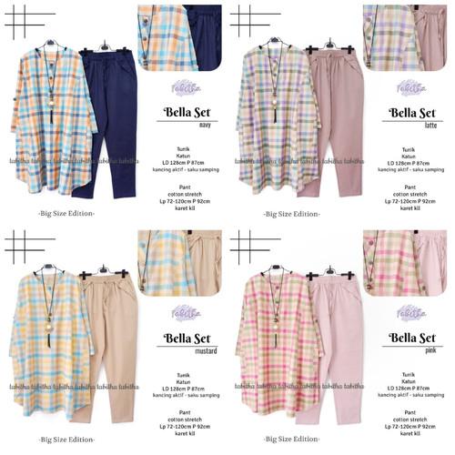 Foto Produk New Bella Set Setelan Celana Wanita Jumbo Baju Kerja Big Size Modis dari Ilyassa Shop