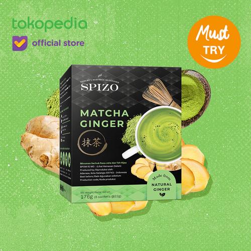 Foto Produk Matcha Ginger (Jahe) 8 Sachet Minuman Bubuk / Box dari SPIZO
