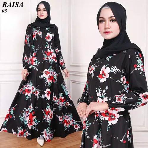Foto Produk Toko Baju Gamis Dress Polos Remaja wanita Indah Lebaran Muslim - Navy dari desplocollection