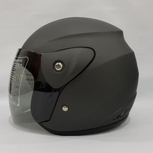 Foto Produk Helm Half Face Nuvo Evo SNI Dewasa Polos Grey Metalic Steel - 010 dari CRX Helmet