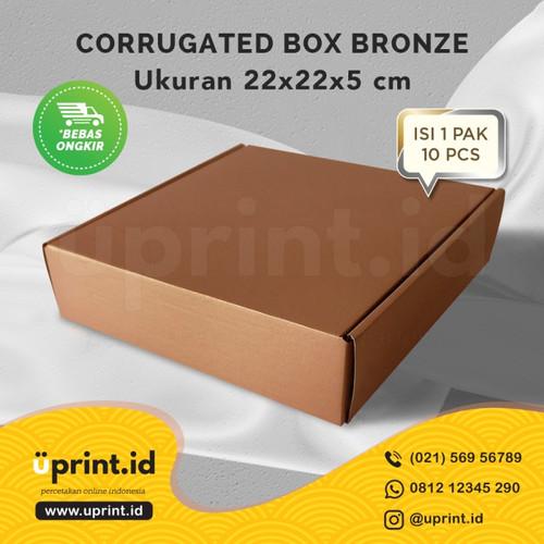 Foto Produk CORRUGATED BOX POLOS |DUS BROWNIES |22x22x5| READY STOCK |BRONZE dari Uprint.id