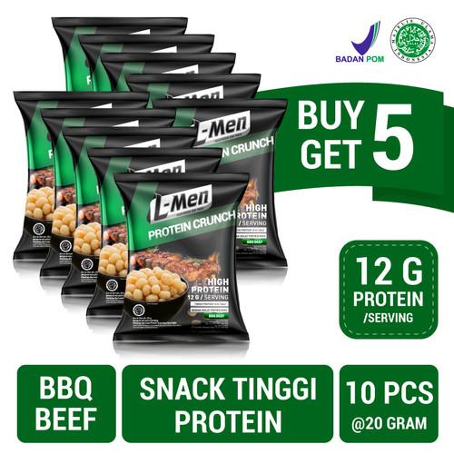 Foto Produk Buy 5 Get 5 FREE: L-Men Protein Crunch BBQ Beef (20gr) dari NutriMart