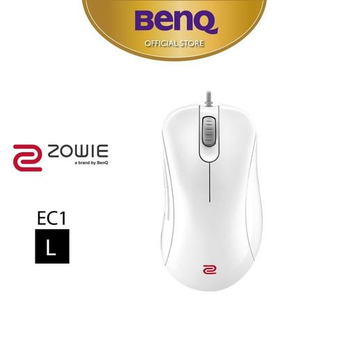 Foto Produk Mouse Gaming BenQ ZOWIE EC1 White 3360 Sensor Esports Mouse (Large) dari BenQ Official Store