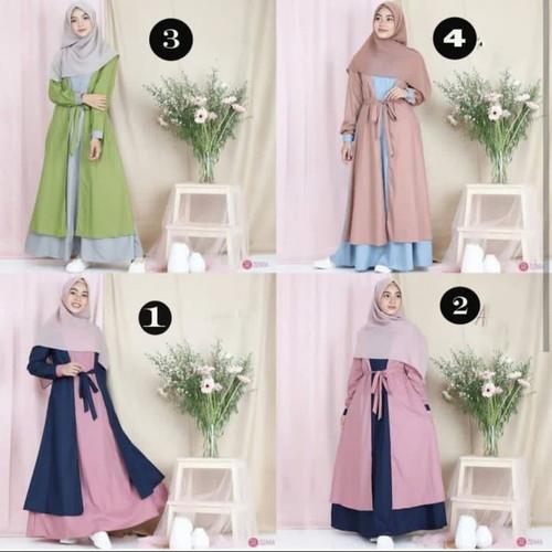 Foto Produk Baju Gamis Muslim Muslimah Wanita Remaja Dan Dewasa Murah Terbaru - NO 3 dari damris shop