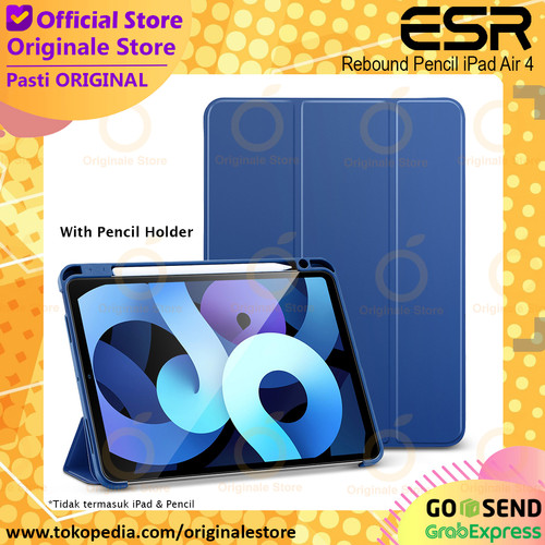 Foto Produk ESR Rebound Pencil Case iPad Air 4 10.9 Inch Soft Casing - Hitam dari Originale Store
