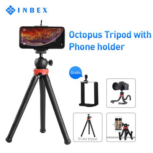 Foto Produk INBEX Tripod Octopus Paket VLOG Mini Hp Flexible Holder U Tripod dari INBEX Official Store