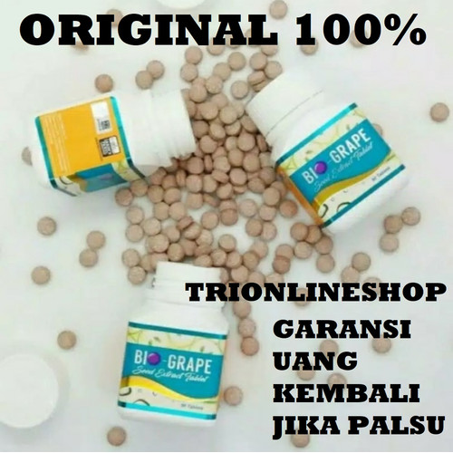 Foto Produk Bio Grape Seed Anti Oksidan Asli Original 100% Obat Diabetes 90 Kapsul dari TRIONLINESHOP