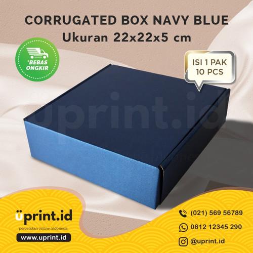 Foto Produk CORRUGATED BOX POLOS |DUS BROWNIES |22x22x5| READY STOCK |NAVY dari Uprint.id