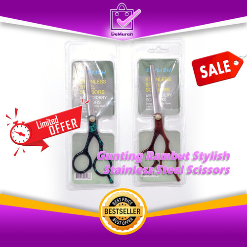 Foto Produk SKU-0288 Gunting Rambut Stylish Stainless Steel Scissors dari Demurah Dot Com
