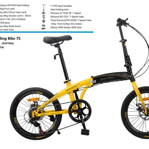 Foto Produk Sepeda Lipat 20 Inch PHYTON ODESSY LP-2036 7 speed dari Sepeda Sinar Bike 8