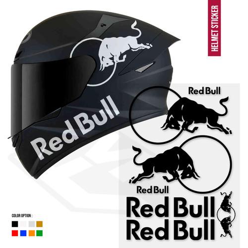 Foto Produk Sticker Redbull Set Body Helm kyt shoei arai shark kbc ink zeus dari Fuel