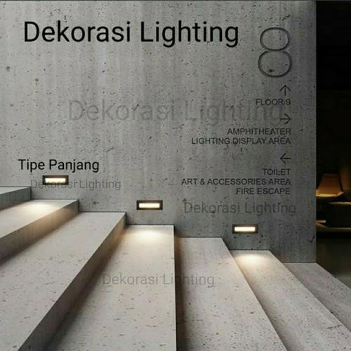 Jual Lampu Tangga Dinding Taman Led Outdoor Waterproof Stairs Step Light Hitam Model Pendek Jakarta Pusat Dekorasi Lighting Tokopedia